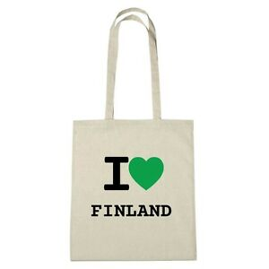 Sac Jute Finland naturel Love Couleur Eco Environment I r6qPwxr8