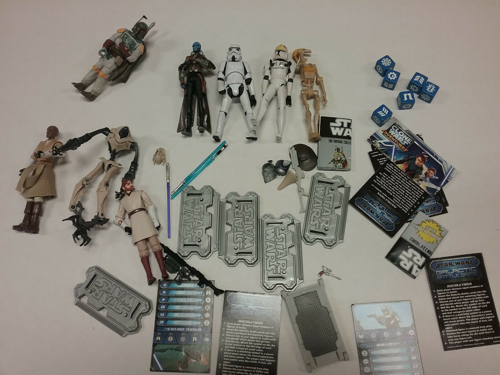 Star Wars Loose LOT LOT LOT 11 Figures Galactic Battlegame Clone Fett Obi Mace Grevious 5f3feb