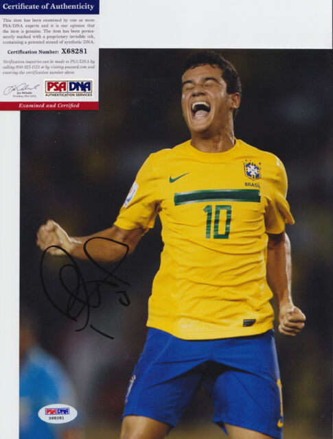 PHILIPPE COUTINHO BRAZIL LIVERPOOL SIGNED AUTOGRAPH 8X10 PHOTO PSA/DNA COA #4