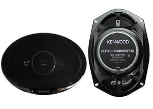 2-New-Kenwood-KFC-6985PS-6x9-034-600-Watt-4-Way-Car-Audio-Coaxial-Speakers-Stereo
