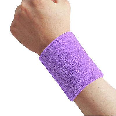 Sports Basketball Unisex Cotton Sweat Band Sweatband Wristband Wrist Band Hot
