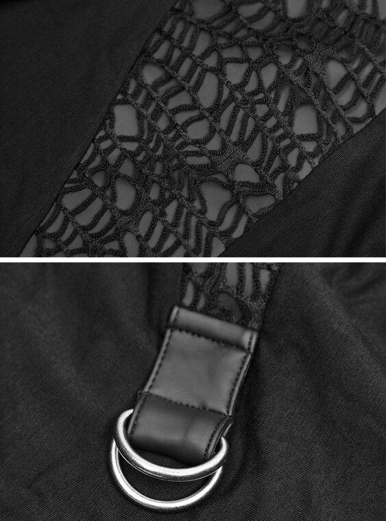 Robe Robe Robe loose asymétrique gothique punk lolita ceinture résille fashion Punkrave 12617c