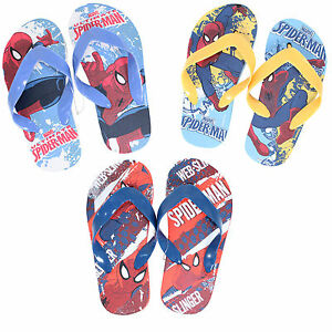 infantil-Chanclas-MARVEL-SPIDERMAN-Tamanos-6-7-8-9-10-11-12-13