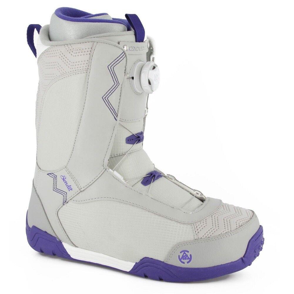 2014 K2 Sendit Grey Size 7.0 Women's Snowboard Boots