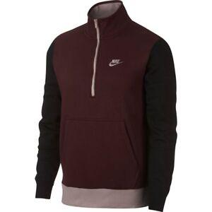 Club Pullover Burgundy 652 M Black 4xl 929452 Zip Nike Half pw6xEqA