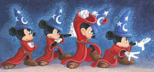 Disney/'s /'/'The Sorcerer/'s Spell/'/'  Kids Room Decoration Cross Stich Pattern