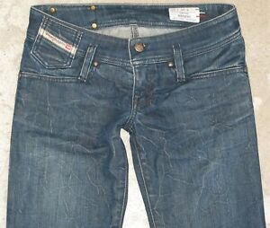 quality design ada98 267f4 Dettagli su Diesel Donna Matic Jeans Taglie 25 Basse Slim Skinny con  Stretch Sdrucito