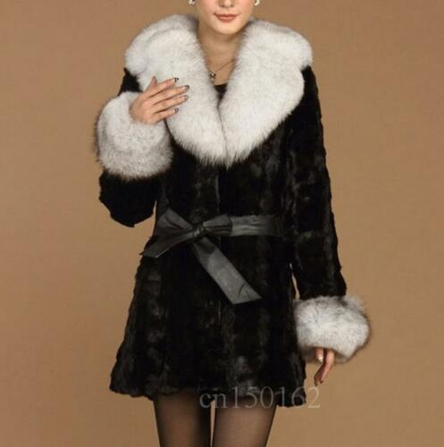 Fur Overcoat Vogue Parka Jakke Faux Frakke Lapel S Color 3 Long 6xl Mid Kvinder tSqwUqaY