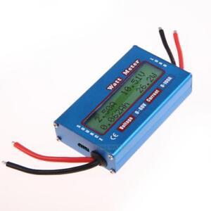 Simple DC Power Analyser Watt  Volt Amp Meter 12V 24V Solar Wind Analyzer #p