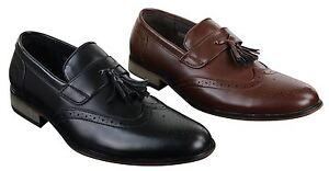 Mocassins chaussures homme cuir et cuir PU avec pampilles style ... 659adb1af720