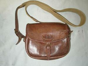 Image is loading LOVELY-ANTIQUE-CARTRIDGE-BAG-SHOOTING-GAME-HUNTING-COUNTRY-
