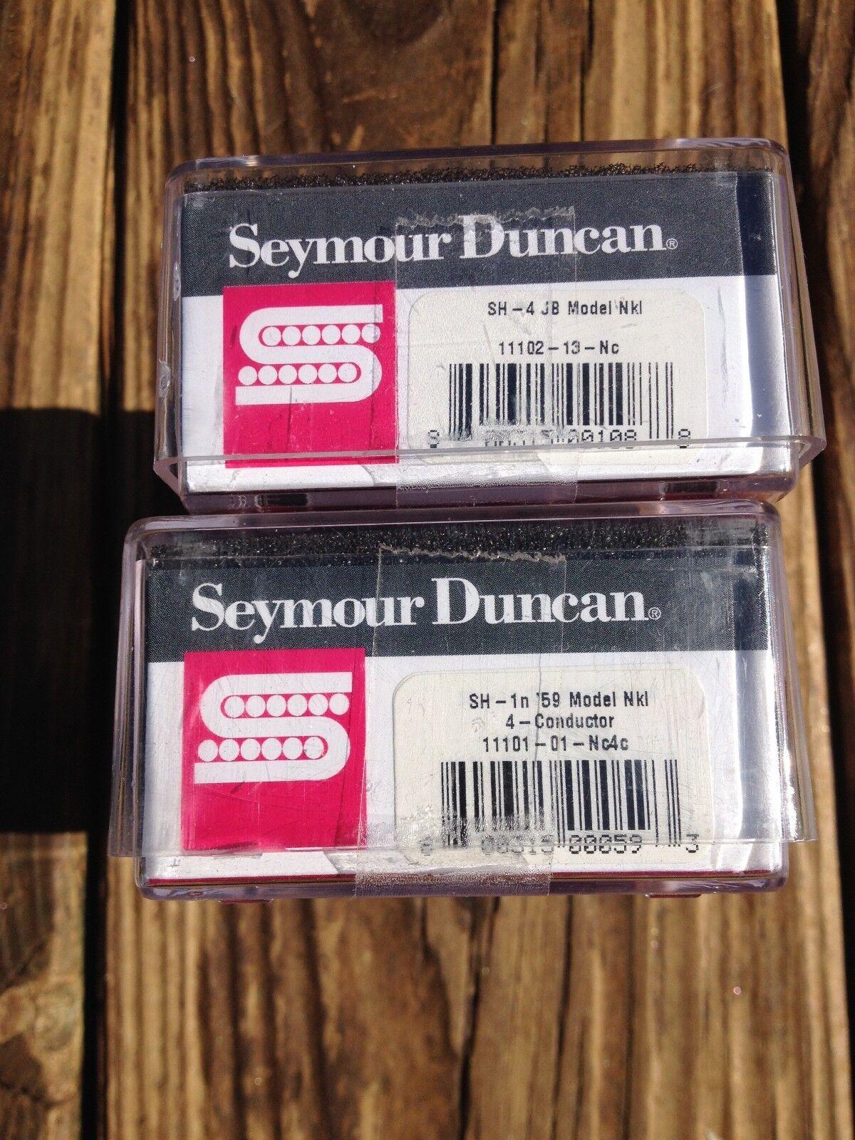 Seymour Duncan SH-4 SH-4 SH-4 JB Puente y SH-1N 59 conjunto de recogida cuello 4 conductor de níquel a7d70c