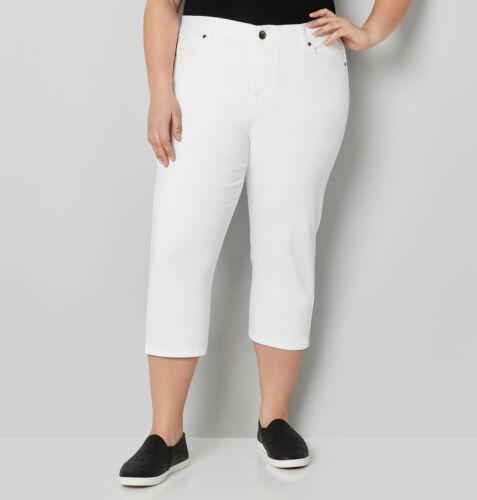 Size White Jean Ultimate In donna Capri Fit Plus da pqgwCRgx