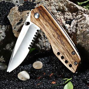 HQ-Enlan-EDC-Pocket-Folding-Knife-Wood-Handle-Half-Serrated-Blade-9-cm-closed