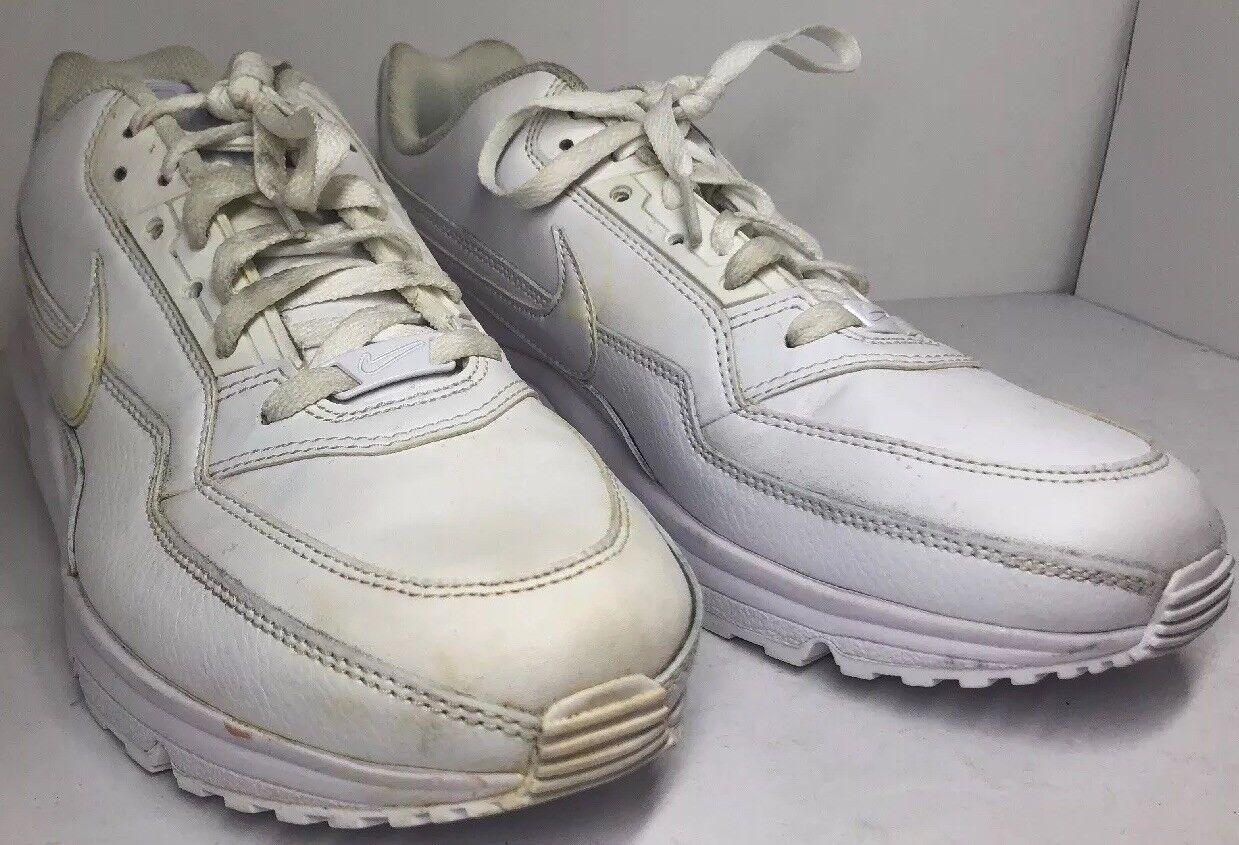 Men's Nike Running Air Max LTD 3 Running Nike White Leather Sneakers Sz 10.5 687977-111 READ f0232c