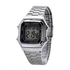 Casio Original New A178WA Mens Silver Stainless Steel Digital Watch A178 A-178