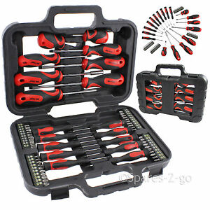 Mechanics-Screwdriver-amp-Bit-Tool-Kit-Set-Precision-Phillips-Torx-Pozi-Slotted