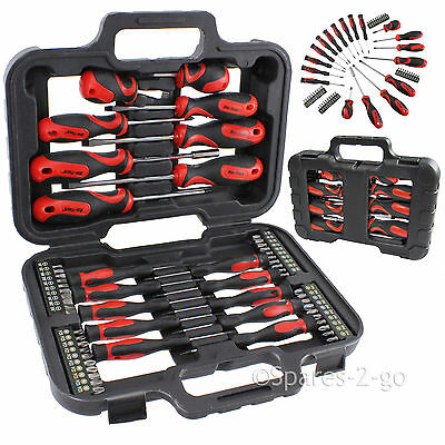 Mechanics Screwdriver & Bit Tool Kit Set Precision Phillips Torx Pozi Slotted