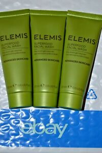 3x-ELEMIS-Superfood-Facial-Wash-Pre-Biotic-Gel-Cleanser-20-ml-Ea-Lot-of-3