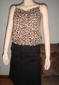 H-amp-M-Black-Corduroy-Skirt-Size-8