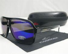 New Men Women's Sport Retro Sunglasses Fashion Bright Black Blue Lens Glasses
