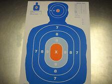 30 Blue/Orange Airsoft Pellet BB Gun Silhouette Paper Shooting Targets 9x12