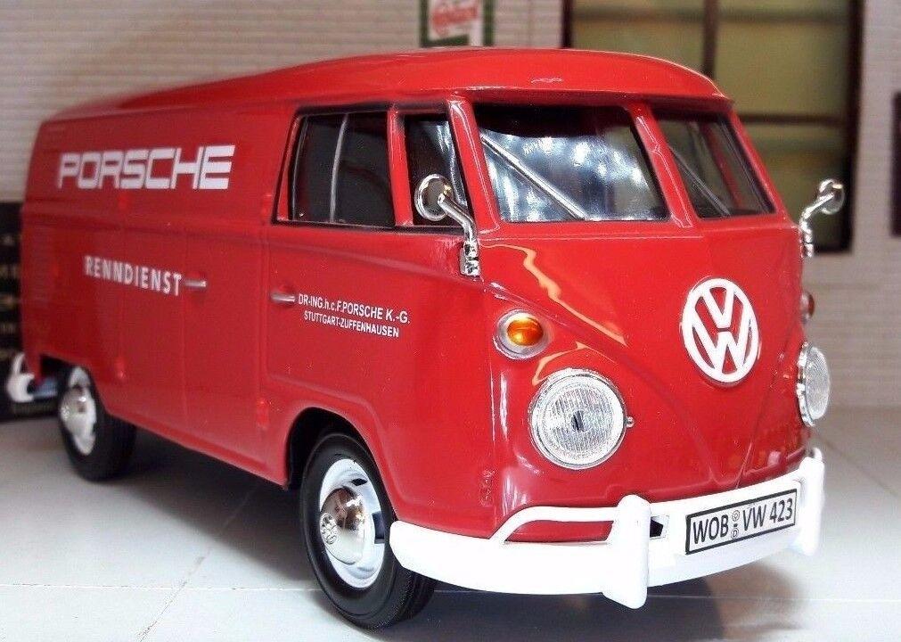 LGB 1 24 24 24 Scale VW T1 Split Screen Red Porsche Delivery Van Model Van 1962 79557 ee101f
