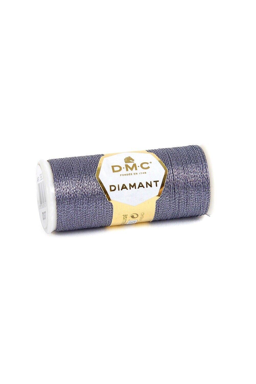 DMC Diamant Grande Metallic Embroidery Thread 20m Colour G415 Bright Silver