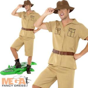 2ee7bb1e9a Image Is Loading Safari-Mens-Fancy-Dress-Zoo-Keeper-Crocodile-Hunter- Sc 1  St EBay