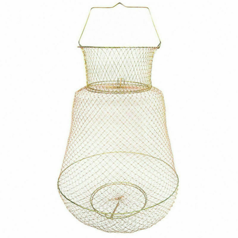 5X(Foldable Portable Steel Wire  Fishing Pot Trap Net Crab Crawdad Cage Fish 6B6)  mejor opcion