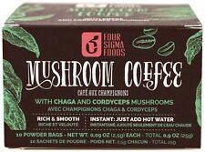 Four Sigma Foods Mushroom Coffee - with Chaga & Cordyceps 10 Satchets