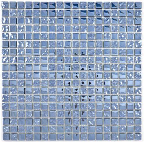 Mosaik Fliese Transluzent platin Glasmosaik Crystal EP Platin Glas  92-0327/_b
