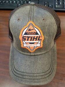 b778fc1f4319a Stihl Orange and Brown Mesh TOUGH Hat Cap 8401954 649869314257