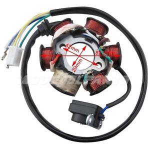stator magneto 6 coil 5 wire gy6 150cc atv quad scooter 4