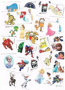 12-x-Kids-Character-Temporary-Tattoos-Garfield-Dora-Marvel-Disney-etc