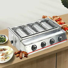 Lpg Gas Grill Bbq Griddle Plate Barbecue 4 Burners Smokeless Cooking Outdoor Bbq