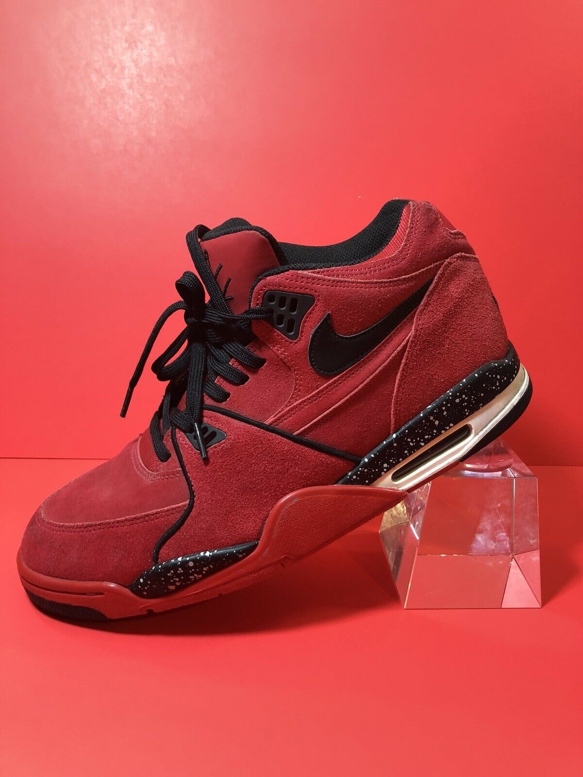 Nike Air Flight 89 Red Mens Sz 12 US Basketball Athletic shoes 306252- 600 OG