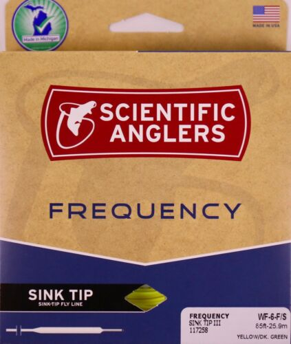Scientific Anglers Frequency Sink Tip Fly Line WF6F//S  FREE FAST SHIPPING 117258