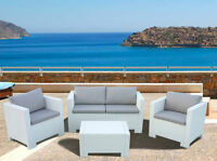 Garten Wohnzimmer Möbel Externe Rattan Sofa Set Tisch Kissen Bar Polyrattan