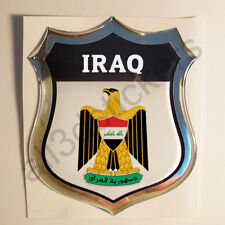 Sticker Iraq Emblem 3D Resin Domed Gel Iraq Flag Vinyl Decal Car Laptop