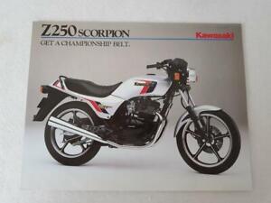Kawasaki Z250 B2 Motorcycle Sale Spec Leaflet C1984 99943 1509 Uk E Iii Viii Ebay
