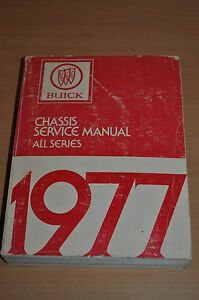 Werkstatthandbuch Buick Chassis Service Manual All Series 1977 3,8 5,7 231 350cu Sachbücher Automobilia