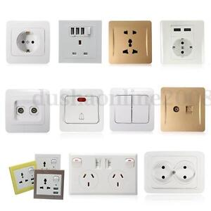 Uk Universal Plug Usb Outlet Wall Electrical Light Switch Socket F