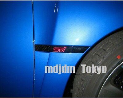 JDM Subaru Impreza WRX STi R205 GRB Front Fender STi Side Moldings Black Genuine