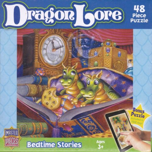 "BEDTIME STORIES 48 Piece 9/""x12/"" Jigsaw Puzzle Series DRAGON LORE"