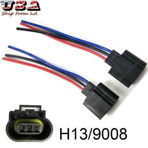 h13 9008 wiring harness female plug led headlight socket for off image is loading h13 9008 wiring harness female plug led headlight