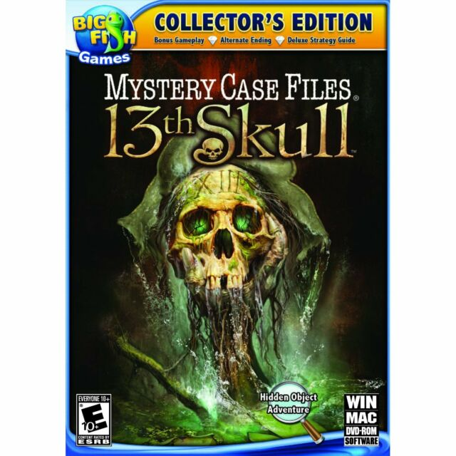 Mystery Case Files 13th Skull PC Games Window 10 8 7 hidden object seek and find