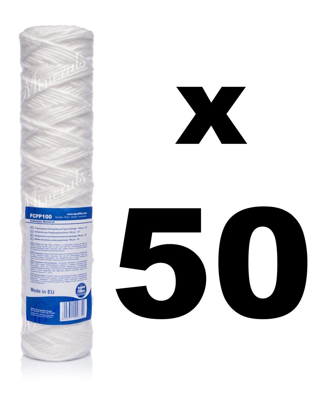 50 x 100 microns Filtre à sédiments corde enroulée 10  , Reverse Osmosis,