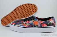 Vans Authentic Galaxy Floral Black/white/red/pink/purple Cosmic Flowers Women Sz