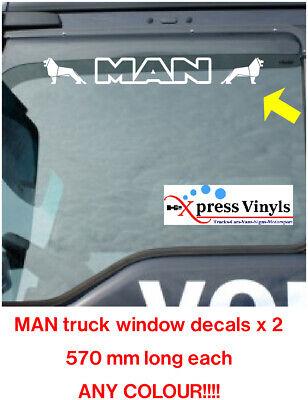 MAN truck window decals x 2 TGA TGS TGX vinyl graphics